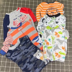 6 pack boy pajamas